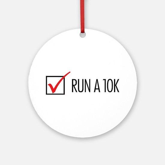 Run a 10k Ornament (Round)