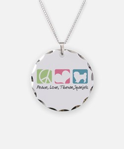 Peace, Love, Tibetan Spaniels Necklace