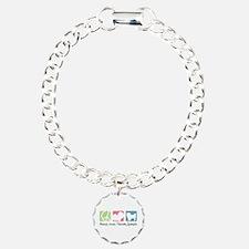 Peace, Love, Tibetan Spaniels Bracelet