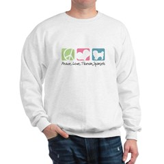 Peace, Love, Tibetan Spaniels Sweatshirt