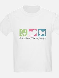 Peace, Love, Tibetan Spaniels T-Shirt