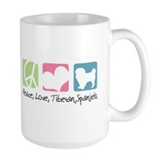 Peace, Love, Tibetan Spaniels Mug