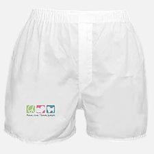 Peace, Love, Tibetan Spaniels Boxer Shorts