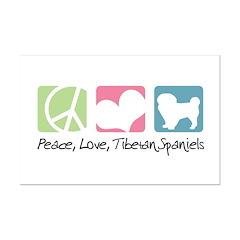 Peace, Love, Tibetan Spaniels Posters