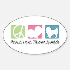 Peace, Love, Tibetan Spaniels Decal