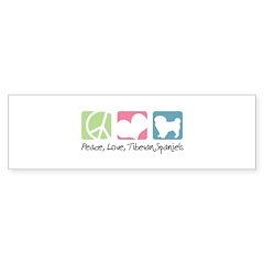 Peace, Love, Tibetan Spaniels Bumper Sticker