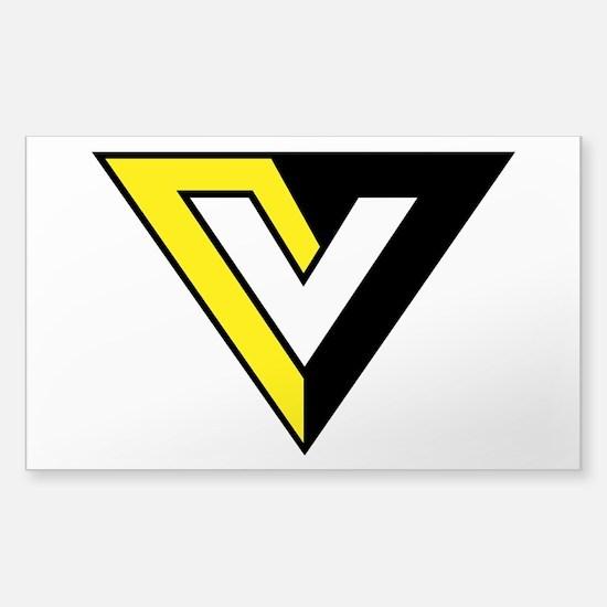 Voluntaryist V Sticker (Rectangle)