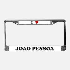 I Love Joao Pessoa License Plate Frame