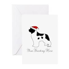 Landseer Santa - Your Text Greeting Cards (Pk of 2