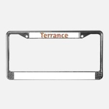 Terrance Fiesta License Plate Frame
