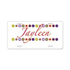 Jayleen with Flowers Aluminum License Plate