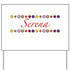Serena with Flowers Yard Sign