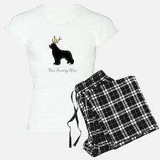 Reindeer Newf - Your Text Pajamas