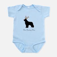 Reindeer Newf - Your Text Infant Bodysuit