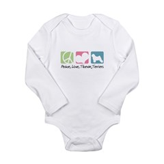 Peace, Love, Tibetan Terriers Long Sleeve Infant B