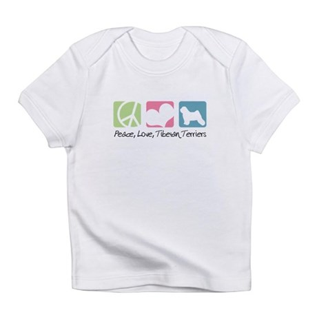 Peace, Love, Tibetan Terriers Infant T-Shirt