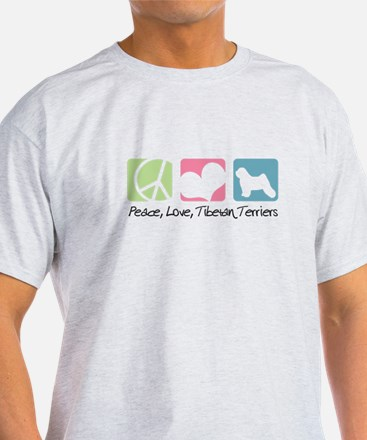 Peace, Love, Tibetan Terriers T-Shirt