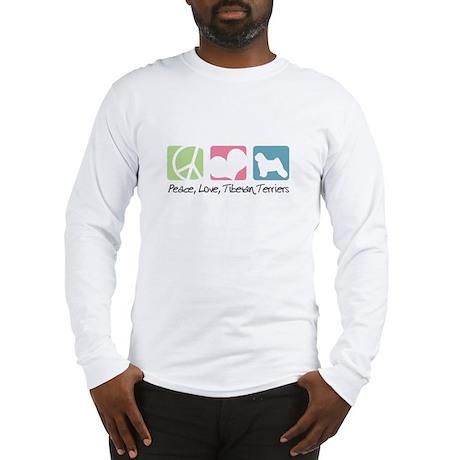 Peace, Love, Tibetan Terriers Long Sleeve T-Shirt