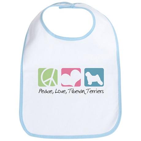 Peace, Love, Tibetan Terriers Bib