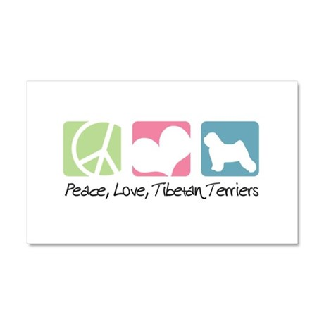 Peace, Love, Tibetan Terriers Car Magnet 20 x 12