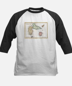 Vintage Map of Guadeloupe (1780) Baseball Jersey