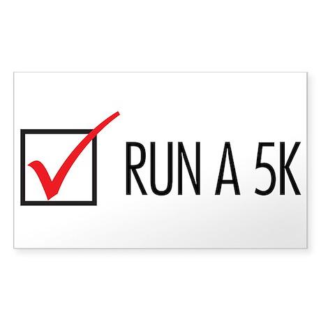 Run a 5k Sticker (Rectangle)