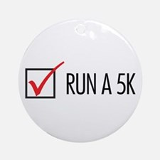 Run a 5k Ornament (Round)