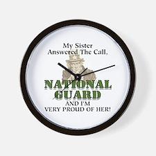 National Guard Sister Wall Clock