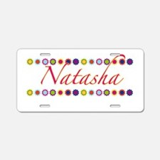 Natasha with Flowers Aluminum License Plate