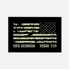 USS Georgia Rectangle Magnet