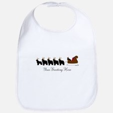 Newf Sleigh - Your Text Bib
