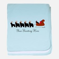 Newf Sleigh - Your Text baby blanket