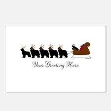 Newf Sleigh - Your Text Postcards (Package of 8)