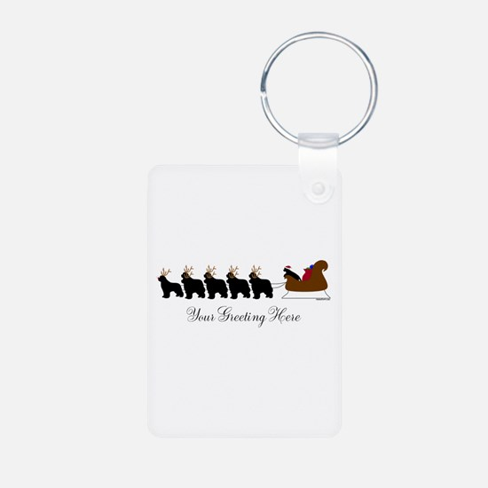 Newf Sleigh - Your Text Keychains