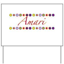 Amari with Flowers Yard Sign