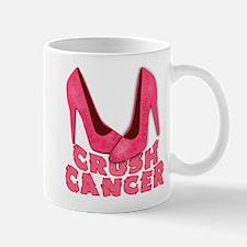 Crush Cancer with Pink Heels Mug