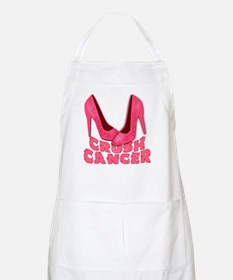 Crush Cancer with Pink Heels Apron