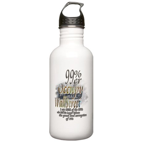 Occupy Wall Street: Stainless Water Bottle 1.0L