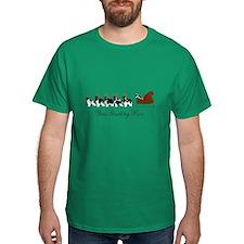 Landseer Sleigh - Your Text T-Shirt
