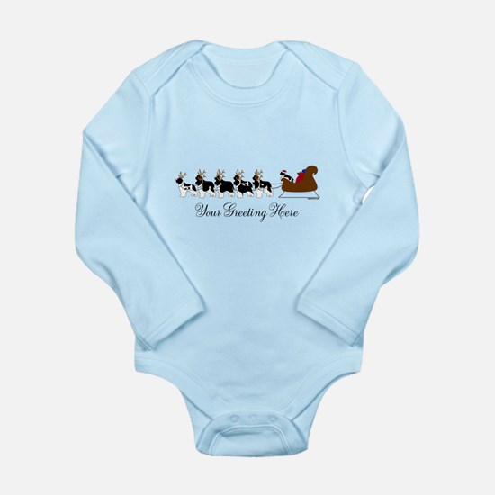 Landseer Sleigh - Your Text Long Sleeve Infant Bod