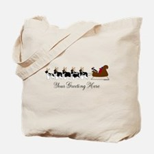 Landseer Sleigh - Your Text Tote Bag