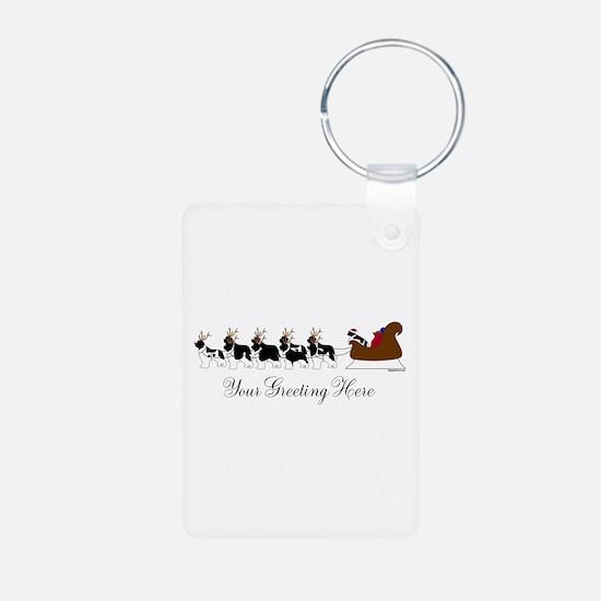 Landseer Sleigh - Your Text Keychains