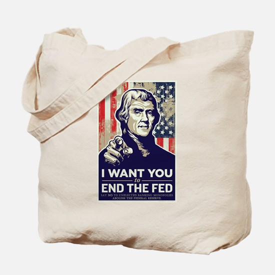 Jefferson End the Fed Tote Bag