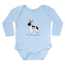 Reindeer Landseer - Your Text Long Sleeve Infant B