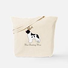 Reindeer Landseer - Your Text Tote Bag