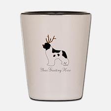 Reindeer Landseer - Your Text Shot Glass