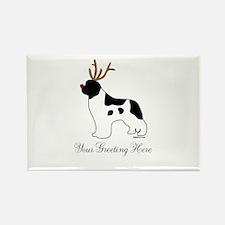 Reindeer Landseer - Your Text Rectangle Magnet