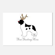 Reindeer Landseer - Your Text Postcards (Package o