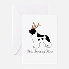 Reindeer Landseer - Your Text Greeting Cards (Pk o