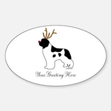 Reindeer Landseer - Your Text Decal